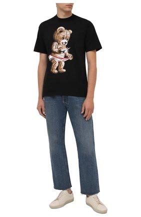 Мужская хлопковая футболка DOMREBEL черного цвета, арт. MSNAP/B0X T | Фото 2
