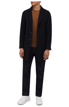 Мужской шерстяное пальто HERNO синего цвета, арт. CA0045U/39601 | Фото 2