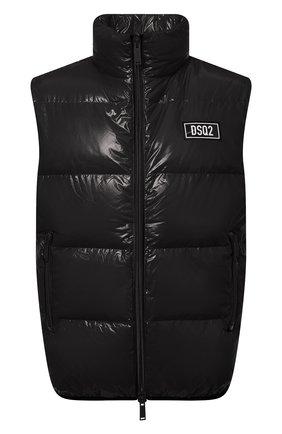Мужской пуховый жилет DSQUARED2 черного цвета, арт. S74FB0278/S54056   Фото 1