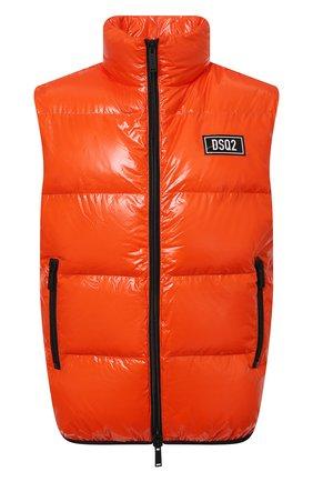Мужской пуховый жилет DSQUARED2 оранжевого цвета, арт. S74FB0278/S54056 | Фото 1