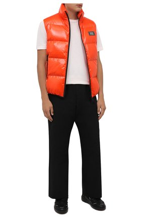 Мужской пуховый жилет DSQUARED2 оранжевого цвета, арт. S74FB0278/S54056 | Фото 2