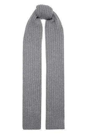 Мужской кашемировый шарф INVERNI светло-серого цвета, арт. 5003 SM   Фото 1 (Материал: Шерсть, Кашемир; Кросс-КТ: кашемир)