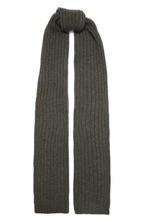 Мужской кашемировый шарф INVERNI хаки цвета, арт. 5003 SM   Фото 1 (Материал: Шерсть, Кашемир; Кросс-КТ: кашемир)