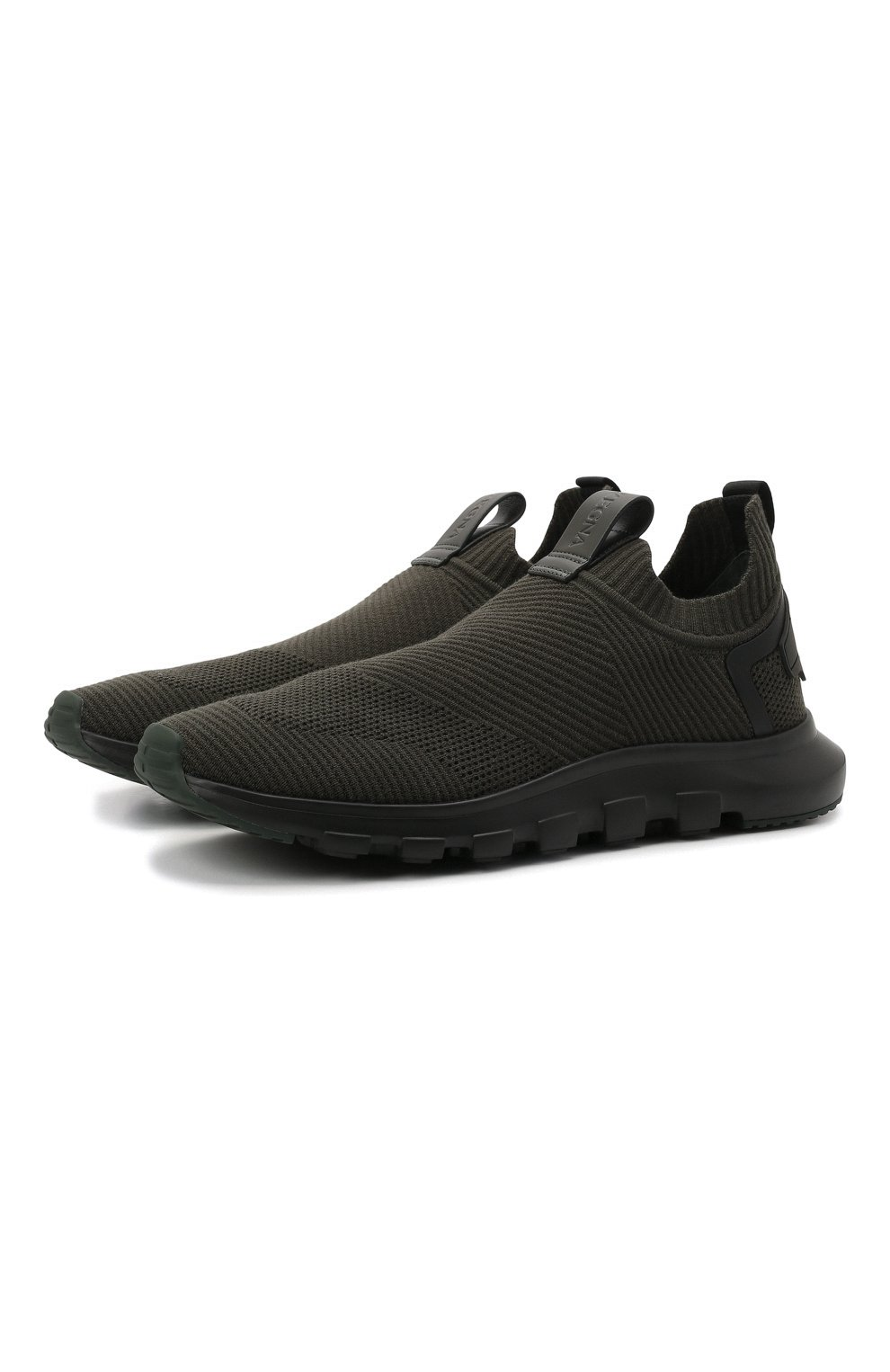 Мужские текстильные кроссовки techmerino sock 2.0 Z ZEGNA хаки цвета, арт. A5105X-LHSTE | Фото 1 (Материал внешний: Текстиль; Материал внутренний: Текстиль; Подошва: Массивная; Стили: Спорт)