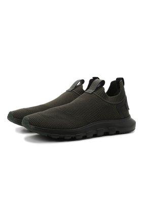 Мужские текстильные кроссовки techmerino sock 2.0 Z ZEGNA хаки цвета, арт. A5105X-LHSTE | Фото 1 (Материал внутренний: Текстиль; Подошва: Массивная; Материал внешний: Текстиль; Стили: Спорт)