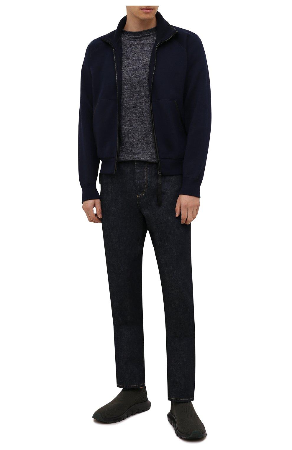 Мужские текстильные кроссовки techmerino sock 2.0 Z ZEGNA хаки цвета, арт. A5105X-LHSTE | Фото 2 (Материал внешний: Текстиль; Материал внутренний: Текстиль; Подошва: Массивная; Стили: Спорт)