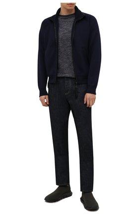 Мужские текстильные кроссовки techmerino sock 2.0 Z ZEGNA хаки цвета, арт. A5105X-LHSTE | Фото 2 (Материал внутренний: Текстиль; Подошва: Массивная; Материал внешний: Текстиль; Стили: Спорт)