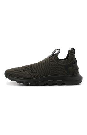 Мужские текстильные кроссовки techmerino sock 2.0 Z ZEGNA хаки цвета, арт. A5105X-LHSTE | Фото 3 (Материал внешний: Текстиль; Материал внутренний: Текстиль; Подошва: Массивная; Стили: Спорт)