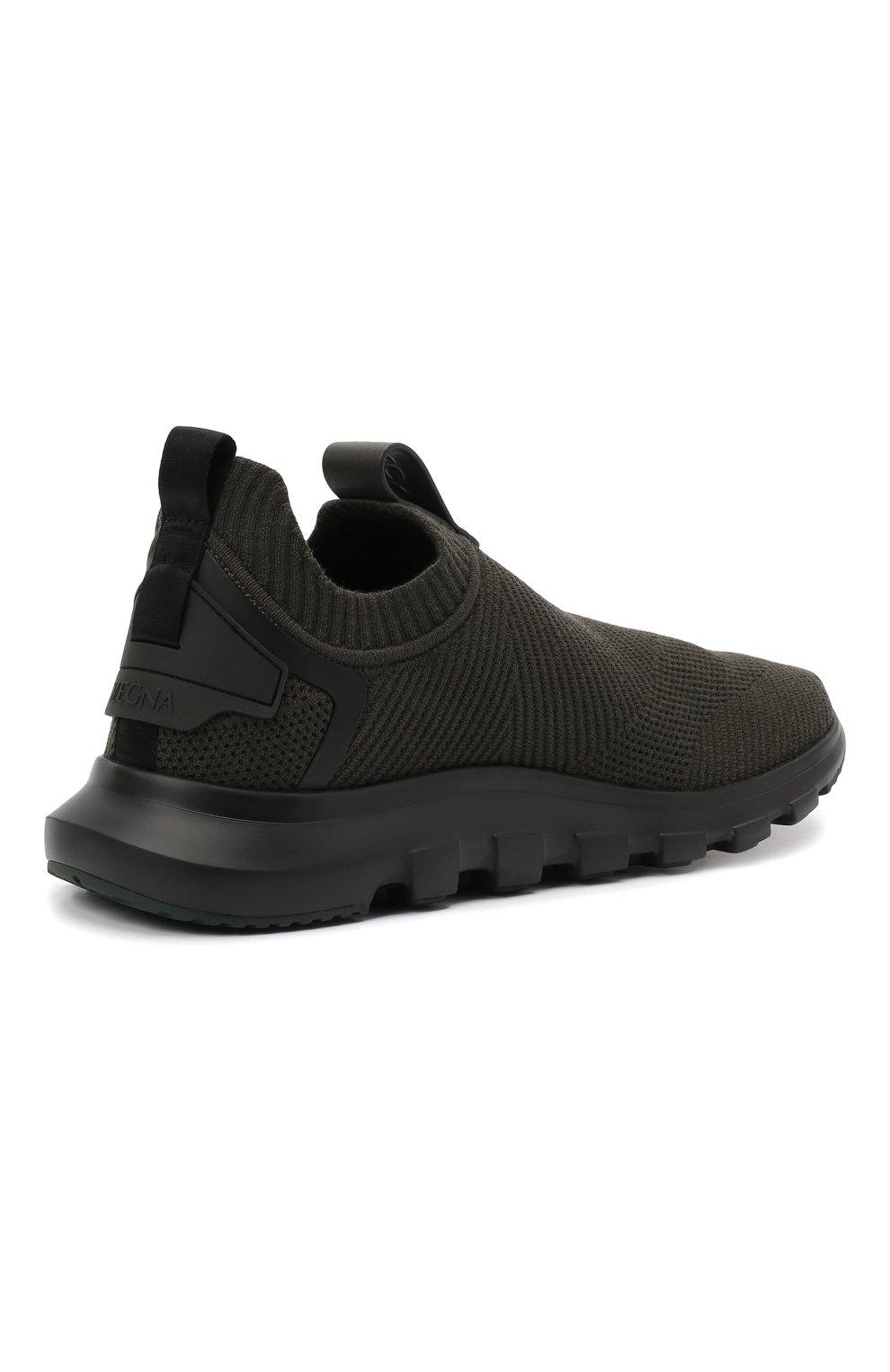 Мужские текстильные кроссовки techmerino sock 2.0 Z ZEGNA хаки цвета, арт. A5105X-LHSTE | Фото 4 (Материал внешний: Текстиль; Материал внутренний: Текстиль; Подошва: Массивная; Стили: Спорт)