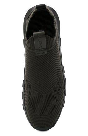 Мужские текстильные кроссовки techmerino sock 2.0 Z ZEGNA хаки цвета, арт. A5105X-LHSTE | Фото 5 (Материал внешний: Текстиль; Материал внутренний: Текстиль; Подошва: Массивная; Стили: Спорт)