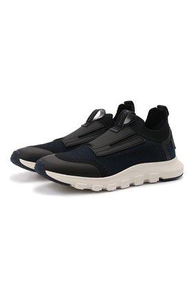 Мужские текстильные кроссовки techmerino sock 2.0 elastic Z ZEGNA темно-синего цвета, арт. A5106X-LHSTE | Фото 1 (Материал внутренний: Текстиль; Материал внешний: Текстиль; Стили: Спорт; Подошва: Массивная)