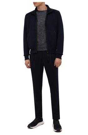 Мужские текстильные кроссовки techmerino sock 2.0 elastic Z ZEGNA темно-синего цвета, арт. A5106X-LHSTE | Фото 2 (Материал внутренний: Текстиль; Материал внешний: Текстиль; Стили: Спорт; Подошва: Массивная)