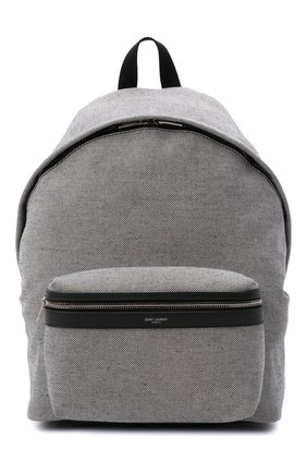 Мужской текстильный рюкзак city SAINT LAURENT серого цвета, арт. 534967/23Z4E | Фото 1 (Материал: Текстиль; Ремень/цепочка: На ремешке)