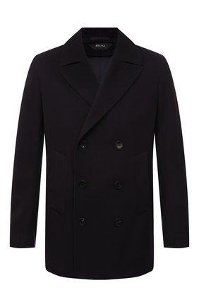 Мужской шерстяное пальто Z ZEGNA темно-синего цвета, арт. 297735/4DG6G0 | Фото 1