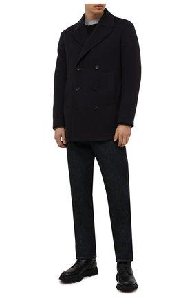 Мужской шерстяное пальто Z ZEGNA темно-синего цвета, арт. 297735/4DG6G0 | Фото 2