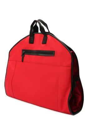 Мужская текстильный кофр KITON красного цвета, арт. UBSMARTN00821 | Фото 2 (Материал: Текстиль; Ошибки технического описания: Нет глубины, Нет высоты)