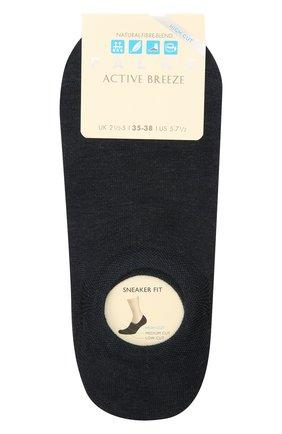 Женские носки FALKE темно-синего цвета, арт. 46423 | Фото 1 (Материал внешний: Растительное волокно, Синтетический материал)