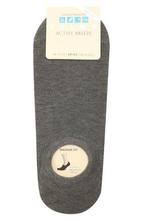 Женские носки FALKE серого цвета, арт. 46423 | Фото 1 (Материал внешний: Синтетический материал, Растительное волокно)