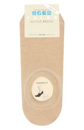 Женские носки FALKE светло-бежевого цвета, арт. 46423 | Фото 1 (Материал внешний: Растительное волокно, Синтетический материал)