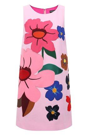 Женское шерстяное платье DOLCE & GABBANA розового цвета, арт. F6P1ZZ/FU2TZ   Фото 1