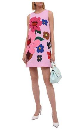 Женское шерстяное платье DOLCE & GABBANA розового цвета, арт. F6P1ZZ/FU2TZ   Фото 2