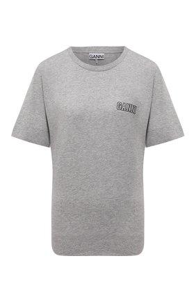Женская футболка GANNI серого цвета, арт. T2917   Фото 1