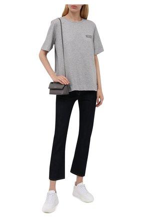 Женская футболка GANNI серого цвета, арт. T2917   Фото 2