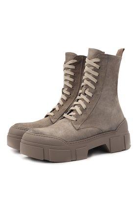 Женские замшевые ботинки VIC MATIE темно-бежевого цвета, арт. 1W3150D.V14W150111   Фото 1
