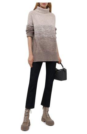Женские замшевые ботинки VIC MATIE темно-бежевого цвета, арт. 1W3150D.V14W150111   Фото 2