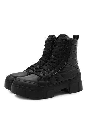 Женские комбинированные ботинки VIC MATIE черного цвета, арт. 1W3160D.V14CAKB001   Фото 1