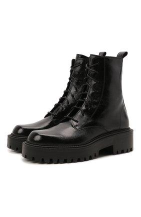 Женские кожаные ботинки VIC MATIE черного цвета, арт. 1W3350D.W60W300101   Фото 1