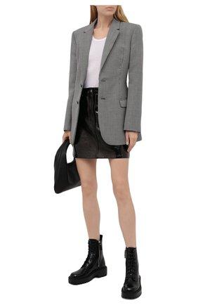 Женские кожаные ботинки VIC MATIE черного цвета, арт. 1W3350D.W60W300101   Фото 2