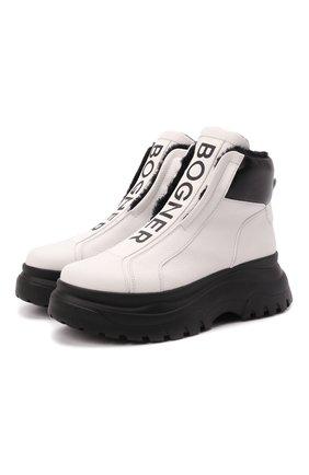 Женские кожаные ботинки BOGNER черно-белого цвета, арт. 22141853/BANFF 5 B   Фото 1