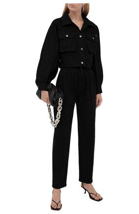 Женские джинсы DOLCE & GABBANA черного цвета, арт. FTB4KD/G901J | Фото 2 (Материал внешний: Хлопок; Длина (брюки, джинсы): Стандартные; Стили: Гламурный; Кросс-КТ: Деним; Силуэт Ж (брюки и джинсы): Прямые)