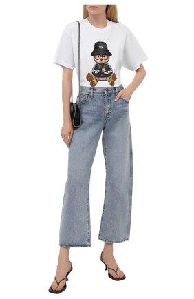 Женская хлопковая футболка DOMREBEL белого цвета, арт. NY BEAR/B0X T/W | Фото 2