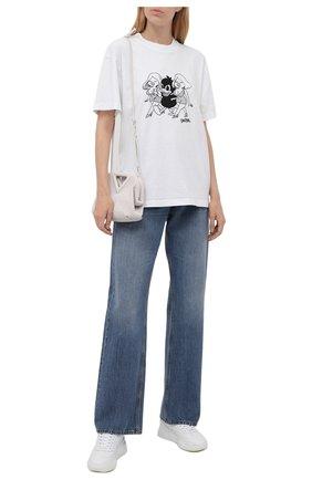 Женская хлопковая футболка DOMREBEL белого цвета, арт. CHAMP/B0X T/W | Фото 2