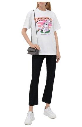 Женская хлопковая футболка DOMREBEL белого цвета, арт. CARR0TS/B0X T/W | Фото 2