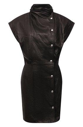 Женское кожаное платье IRO темно-коричневого цвета, арт. WP33ANATA | Фото 1