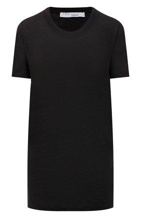 Женская льняная футболка IRO черного цвета, арт. WF19LUCIANA | Фото 1