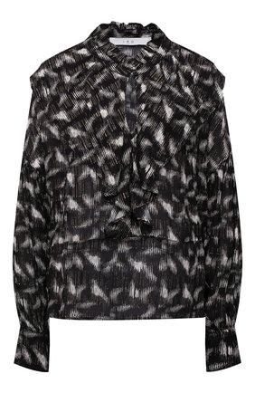 Женская блузка из вискозы IRO черно-белого цвета, арт. WP16TCHAMI | Фото 1