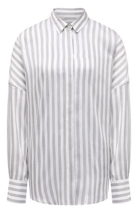 Женская рубашка из вискозы и шелка IRO светло-серого цвета, арт. WP18MASSARI | Фото 1