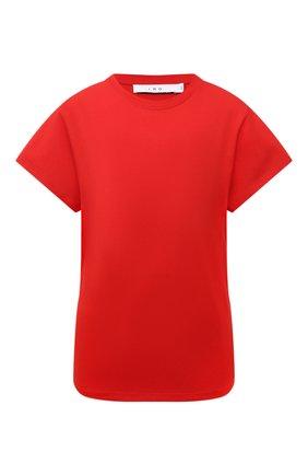 Женская хлопковая футболка IRO красного цвета, арт. WP19TABITHA | Фото 1
