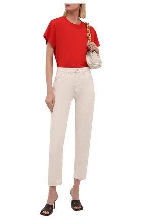 Женская хлопковая футболка IRO красного цвета, арт. WP19TABITHA | Фото 2