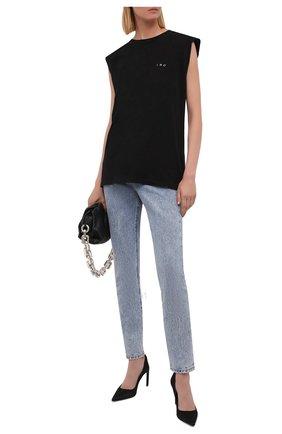 Женская хлопковая футболка IRO черного цвета, арт. WP21DYSHE | Фото 2