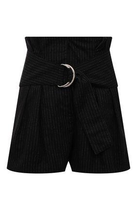 Женские шерстяные шорты IRO черного цвета, арт. WP30C0RSTEN | Фото 1
