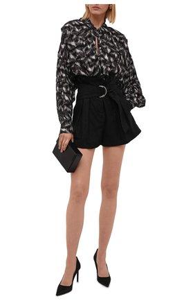 Женские шерстяные шорты IRO черного цвета, арт. WP30C0RSTEN | Фото 2