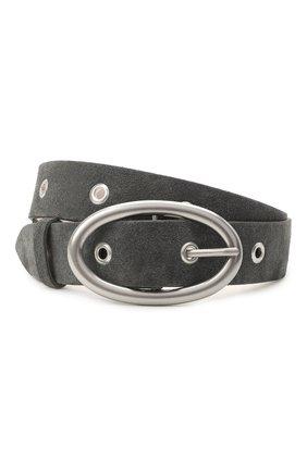 Женский кожаный ремень IRO темно-серого цвета, арт. WP50SLACK | Фото 1