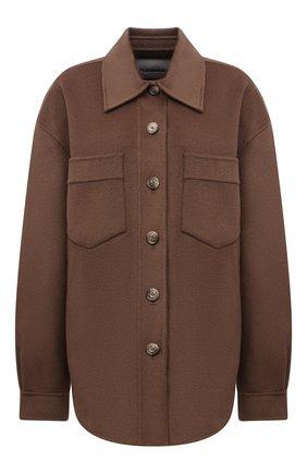Женская куртка из шерсти и кашемира NANUSHKA коричневого цвета, арт. NW21PF0W00684   Фото 1