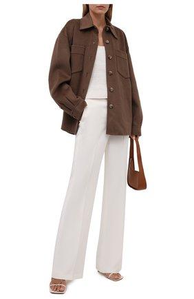 Женская куртка из шерсти и кашемира NANUSHKA коричневого цвета, арт. NW21PF0W00684   Фото 2