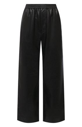 Женские брюки из экокожи NANUSHKA черного цвета, арт. NW21PFPA00899   Фото 1